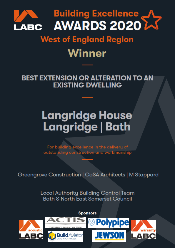 Building Excellence Awards 2020 winner